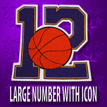 10 Inch Number with Icon