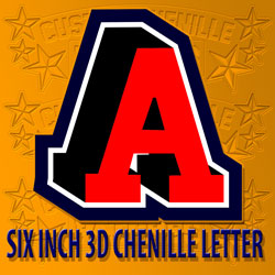 Six to Eight Inch Large Letters for Letterman jackets and