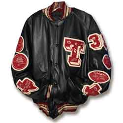 All-Leather Letterman Jacket