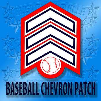 Baseball Chevron Patch