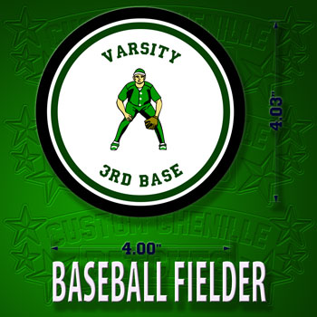 Baseball Fielder Patch