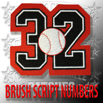 Baseball Number Patch