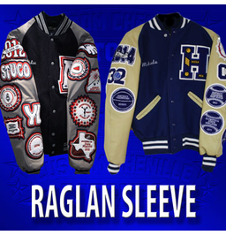 Basic Raglan Letterman Jacket