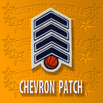 Basketball Chevron Patch