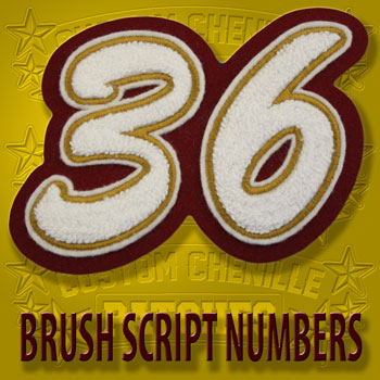 Brush Script Number