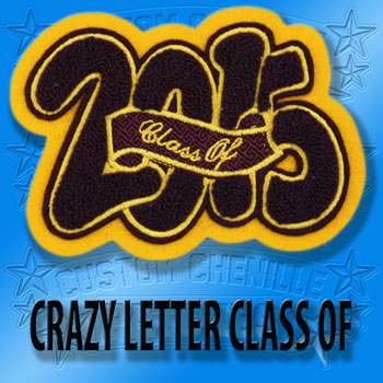 Crazy Letter Class of Patch