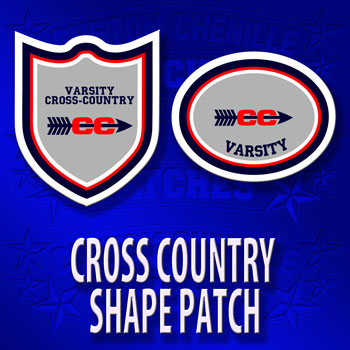 Cross Country Shape Patch