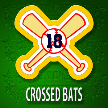 Crossed Bats Number Patch