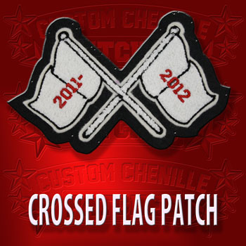 Crossed Flag Patch