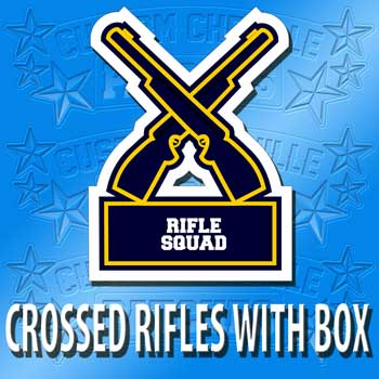 Crossed Rifles with Box