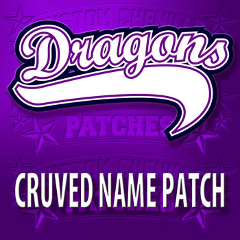 Curved Name Patch