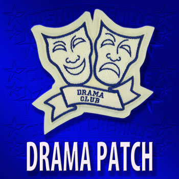 Drama Masks with Banner