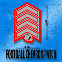 Football Chevron Patch