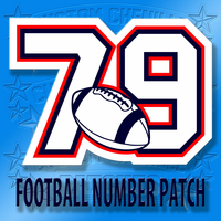 Football Number Patch
