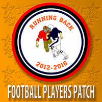 Football Players Shape Patch