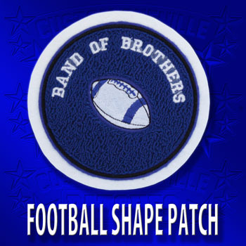 Football Shape Patches