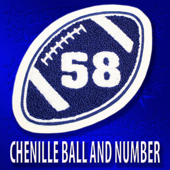 Football with Chenille Number