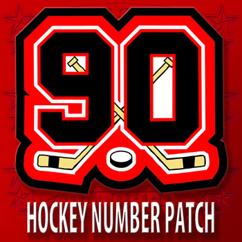 Hockey Number Patch