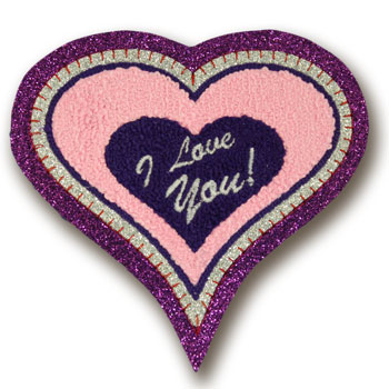I Love You Valentine Heart Chenille Patch