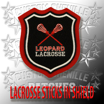 Lacrosse Sticks in Shield