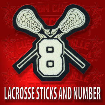 Lacrosse Sticks with Number