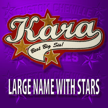 Large Name Patch with Stars