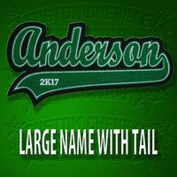 Large Name Patch with Tail