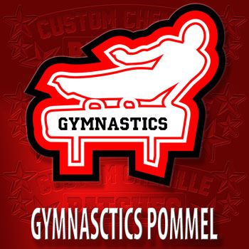 Male Gymnastics Shape Patch