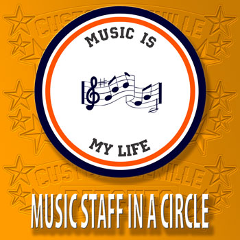Music Staff Circle Patch