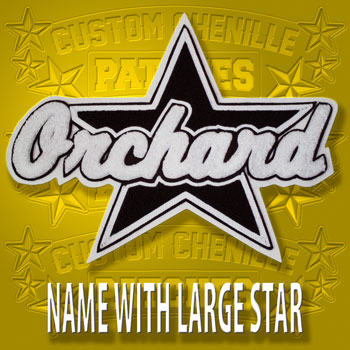 Name Patch with Large Star