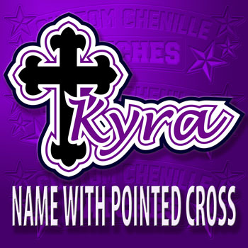 Name Patch with Pointed Cross