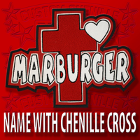 Name with Large Cross and Heart