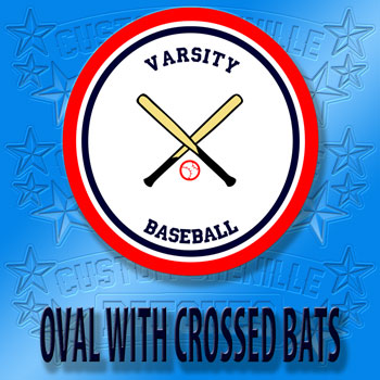 Oval Baseball Patch