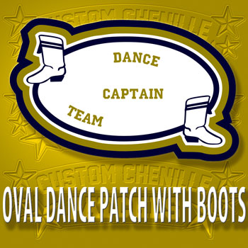 Oval Dance Patch with Boots