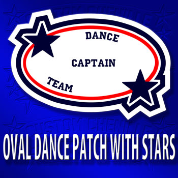 Oval Dance Patch with Stars