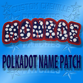 Polka Dot Name Patch