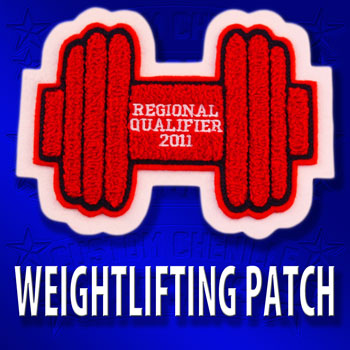 Powerlifting Dumbell Patch