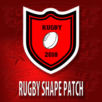 Rugby Shape Patch