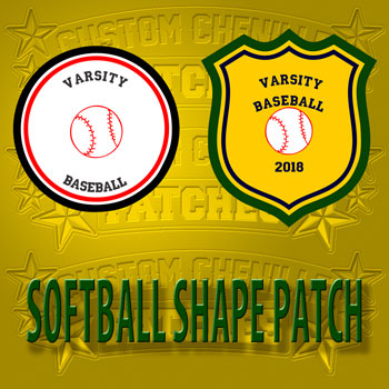 Shape Softball Patch