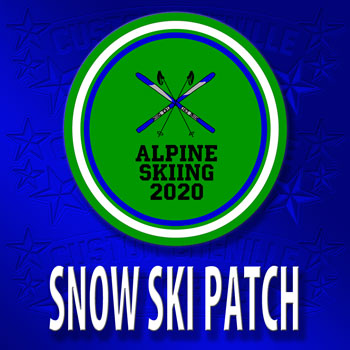 Snow Skiing Patch