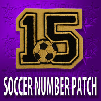 Soccer Number Patch