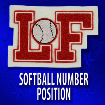 Softball Number or Position Patch