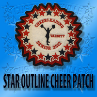 Star Outlined Cheer Patch