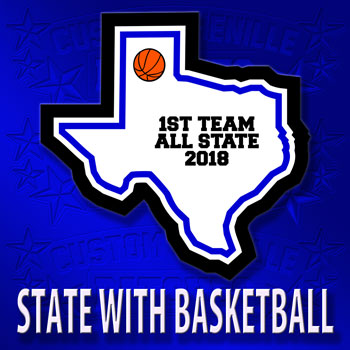 State Patch with Basketball Icon