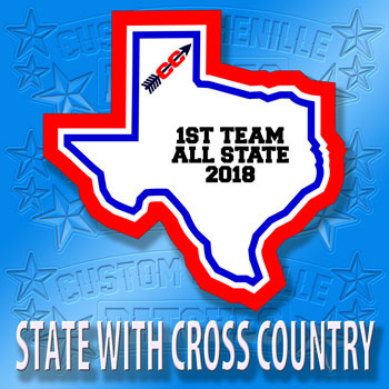 State Patch with Cross Country Icon