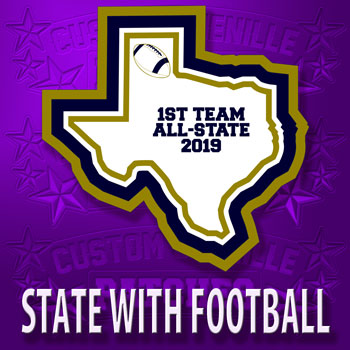 State Patch with Football Icon