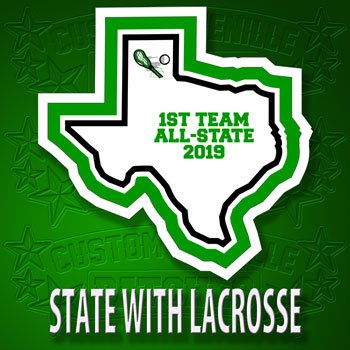 State Patch with Lacrosse Icon