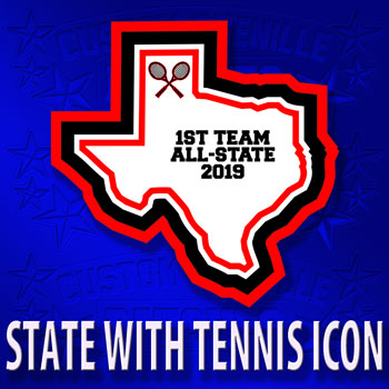 State Patch with Tennis Icon