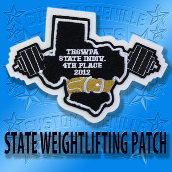 State Powerlifting Patch