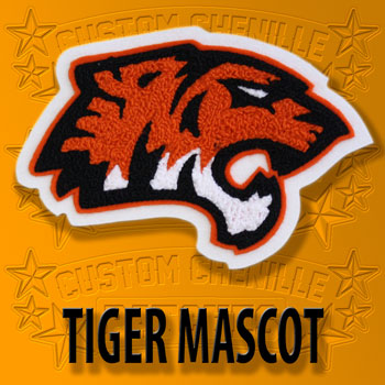 Tiger Face Mascot Patch